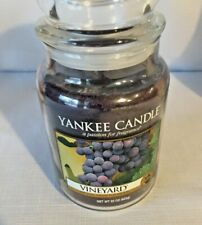 "Yankee Candle ""Vineyard"" Fruit Scented Large 22 oz. ~ WHITE LABEL ~ NEW!"