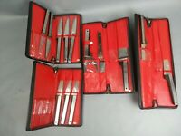 Vintage 13pc Set Of Vernco Knives Stainless Japan Mid Century Modern