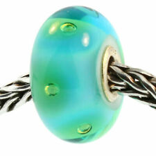Authentic Trollbeads Glass 61168 Turquoise Bubbles 0 Retired