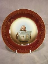"Rosenthal Empire 8 3/8"" Portrait Plate ~ Man Reading Newspaper"
