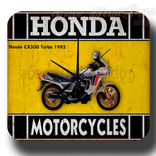 Honda CX500 Turbo 1982 MOTORCYCLE  VINTAGE RETRO  METAL TIN SIGN WALL CLOCK