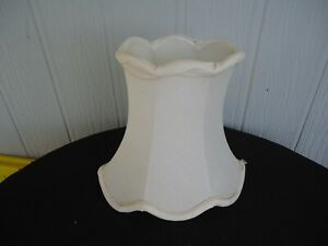 vintage retro off white oval table lamp shade