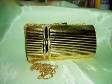 Vintage Stunning Gold Tone & Ab Crystal Evening Bag / Shoulder / Clutch