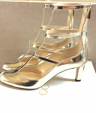 JIMMY CHOO DOLL Gold Mirror Leather Caged pumps 38