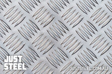Aluminium Checker Plate Sheet 5 bar 3MM MILL FINISH 1.2x2.4m