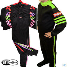 RaceQuip - Pro 1 Youth SFI-1 Fire Rated Racing Suit Auto Kart Child's 1-Piece