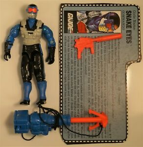 GI JOE VINTAGE 1991 SNAKE EYES LOOSE WITH ACCESSORIES NOT COMPLETE
