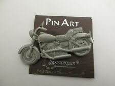 Spoontiques Pin Art Motorcycle Pewter Pin