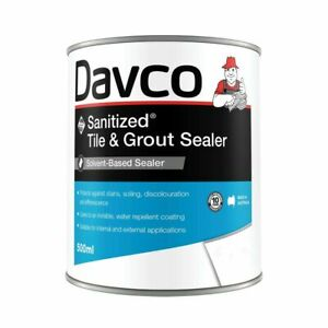 Davco 500ml Sanitized Tile And Grout Sealer Clear Solution Water Repellent Coat