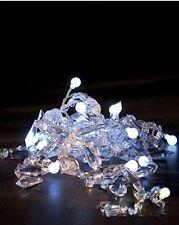 Konstsmide 1343-203 LED Dekolichterkette mit Kristallmotiven Lichterkette 20 LED