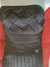 AUTHENTIC $2380 08C CRUISE CHANEL BLACK  AIRPLANE BUSTIER  STRAPLESS TOP  SZ 38