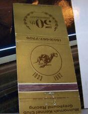 Rare Vintage Matchbook Cover B7 Wood Village Oregon Multnomah Greyhound Dog Race