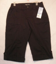 Riders Mid Rise Skimmers Bermuda Shorts Black Women's Size 6 NEW