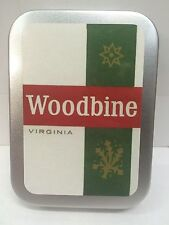 Woodbine Retro Advertising Brand Cigarette Tobacco Storage 2oz Hinged Tin