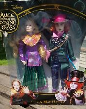 2 Doll set Disney Alice in Wonderland Through the Looking Glass Mad Hatter 2016