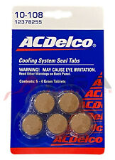 Genuine Gm Acdelco Coolant System Sealing Tabs Stop Leak 12378255