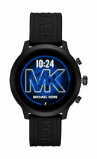 Michael Kors Access MKGO 43mm Case Black-Tone with Silicone Strap (MKT5072)