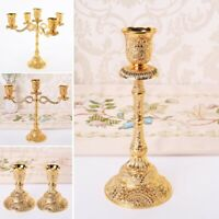 EU Styles Metal Gold Candlesticks Wedding Candles Holders Rack Party Home Decor