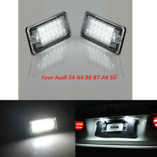 2 PCS LED Licence License Number Plate Light  For AUDI A3 A4 A5 A6 Q7 No Error
