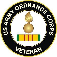 """Army Ordnance Corps Veteran 5.5"""" Decal / Sticker 'Officially Licensed'"""
