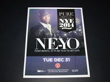 Ne-Yo Live @Las Vegas New Years Eve 2014 15x12 Matted Event Promo Ad / Art New