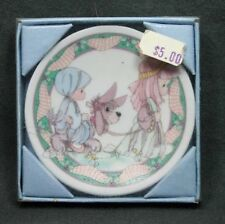 1993 Precious Moments Mini Plate Mary & Joseph #250465