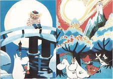 Moomin Troll Finland Mint Postcards (2) Beautiful !!