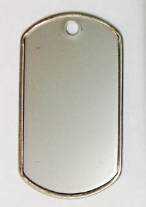 100 Military GI Dog Tags Rolled edge 304 Stainless Steel