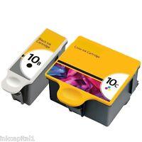 1x Negro & 1x Cartuchos de tinta color NO-OEM alternativa para Kodak Series 10