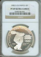 New listing 1983-S Olympics Silver Commemorative Dollar S$1 Ngc Pr69 Pf69 Pf-69 Pr-69