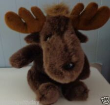 "2001 VINTAGE LARGE PLUSH CRITTER CRAFT MOOSE 11""  WITH ANTLERS PLUSH DOLL"