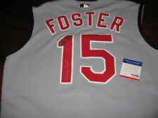 GEORGE FOSTER REDS,NL MVP 1977 PSA/DNA SIGNED JERSEY