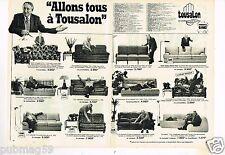 Publicité advertising 1981 (2 pages) Fauteuil Canapé Tousalon