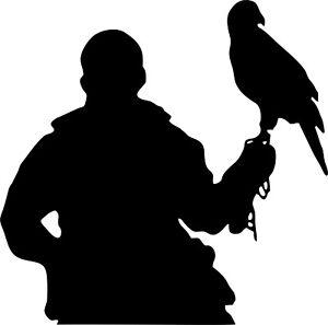Hawk on Fist Falconry sticker