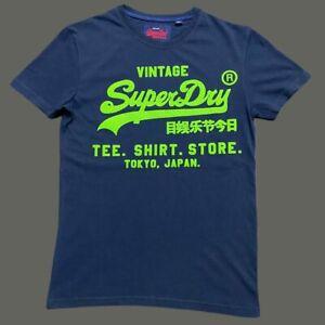 Mens Designer SUPERDRY King Short Sleeve T Shirt Casual Gym Top Navy Blue Green