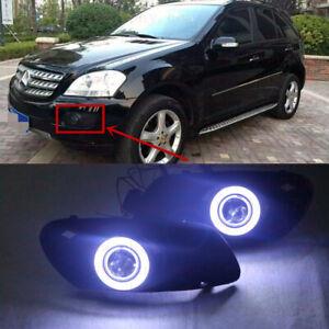 2x LED DRL Daytime Fog Lights Lens+angel eye kits For Benz W164 ML-Class 2007-09