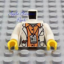 LEGO Female DOCTOR SCIENTIST MINIFIG TORSO - Hospital White Shirt Lab Coat Nurse