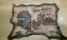 Harley Davidson Road King Leather  man cave /art