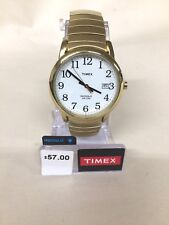 Timex Men's Easy Reader Gold-Tone Expansion Band Watch #2H301