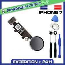 BOUTON HOME + NAPPE POUR IPHONE 7 NOIR + KIT OUTILS