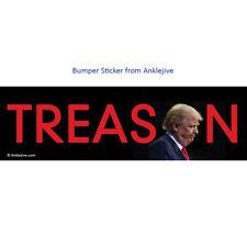 TREASON - Anti-Trump, Anti-GOP Liberal Window/Laptop/Bumper Sticker