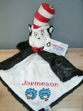 Cat in the Hat Luvster Personalized Security Blanket Baby Blankie
