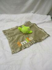 Carters Frog Brown Smile Security Blanket Lovey Animals Crib Sleep Infant Green