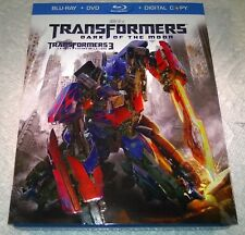 Transformers Dark of the Moon (Blu-ray, 2011, Canada) with Slipcover NEW