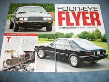 "1979 Mercury Capri Drag Car Article ""Four-Eye Flyer"" Mustang Fox Body"