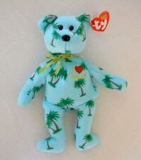 TY Beanie Baby HAWAII 2004 Exclusive State Series PALM TREES Original Red Heart