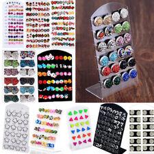 Wholesale Fashion Women Earrings Set Rhinestone Crystal Pearl Ear Studs Jewelry