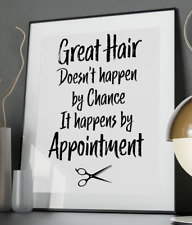 Great Hair Inspirational Quote Poster Art Print A6-A0 Decor Wall Hairdresser
