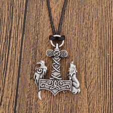 Viking Necklace Wolf Crow Pendant Nordic Simple Charm Unisex Jewelry Decor Gifts