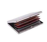 Aluminum Metal Slim Anti-Scan Credit Card Holder RFID Blocking Wallet Case LN
